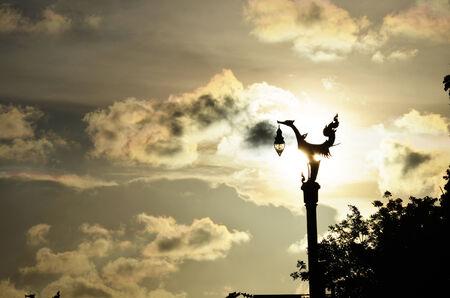 thanon: Silhouette Lamp Thai Style at Thanon Utthayan or Thanon Aksa Road