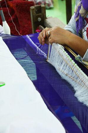Silk weaving Handicraft photo