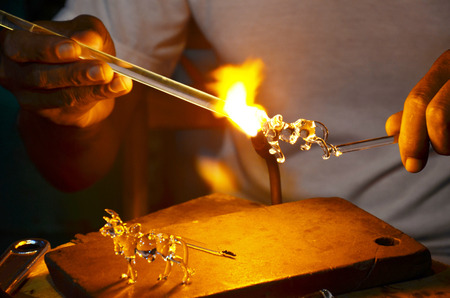 Scientific glass blowing photo