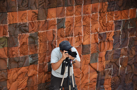 Photographer at Doi Inthanon National Park is the highest mountain in Thailand  It is located in Mae Chaem District, Chiang Mai Province   photo