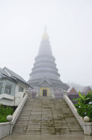 Doi Inthanon National Park is the highest mountain in Thailand  It is located in Mae Chaem District, Chiang Mai Province  photo