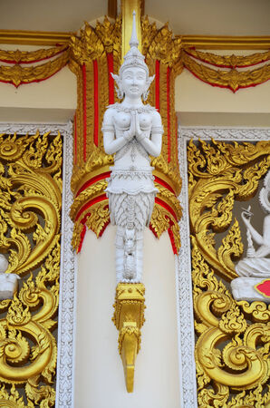 Carving and sculpture guardian thai style at temple Thailand photo