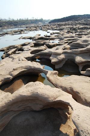 Grand Canyon of Siam with Mekong river  is name Sam Phan Bok  Three thousand holes  at Ubon Ratchathani Thailand photo