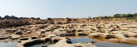 Grand Canyon of Siam with Mekong river  is name Sam Phan Bok  Three thousand holes  at Ubon Ratchathani Thailand photo