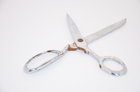 Old Scissors Stainless steel Stock Photo - 26099303