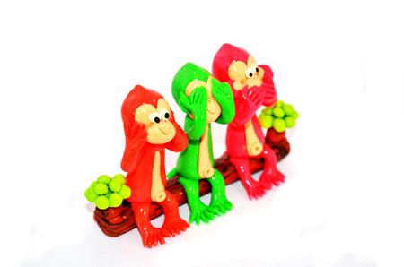 three wishes: Monkey three wishes Model Stock Photo
