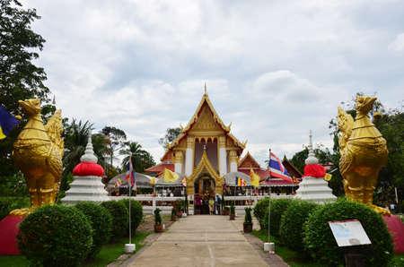nonthaburi: Wat Pailom in Koh kred island at Nonthaburi Thailand