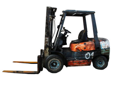 Old Forklift truck photo