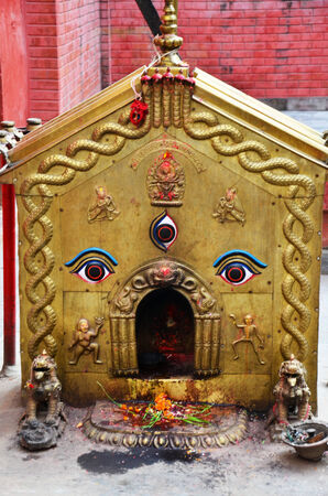 Wisdom Eyes on  joss house at Thamel Kathmandu Nepal photo