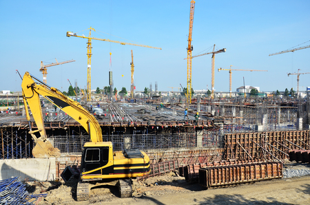 Building Business construction Site at Bangkok Thailand photo