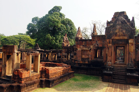 tam: Prasat Hin Muang Tum or Muang Tum Sanctuary Ruin of Buriram Thailand Stock Photo