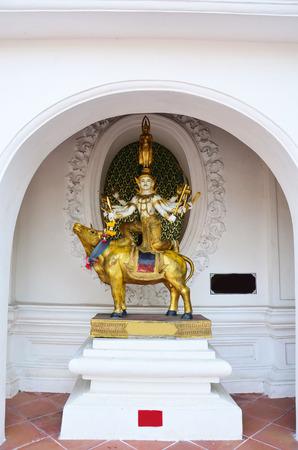phrom: Buddha stand on Brahma ride ox