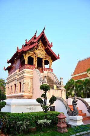 buddhist structures: Wat Phra Sing Waramahavihan at Chiang Mai province Northern of Thailand Stock Photo