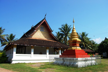 Temple Temple in Luang Prabang City at Loas Lao People s Democratic Republic  photo