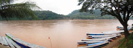 khong river: Panorama Mekong river in Luang Prabang City at Loas  Lao People s Democratic Republic