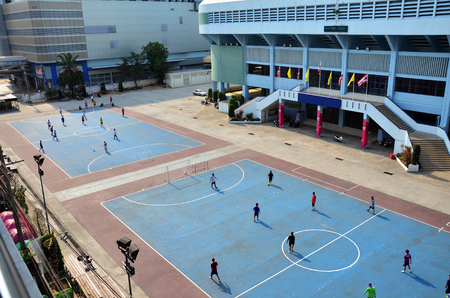 Football or Soccer field at Indoor Stadium Huamark