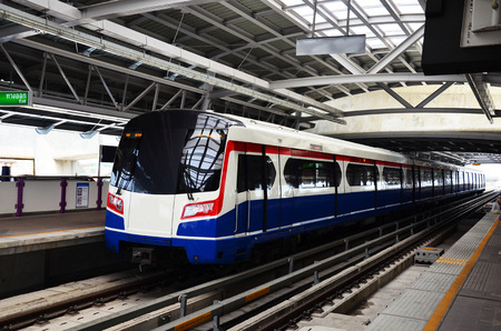 BTS Electric Railway Train at Bangkok Thailand