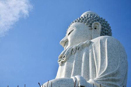 Big Buddha statue formal name is  Pra Puttamingmongkol Akenakkiri at Phuket Thailand photo