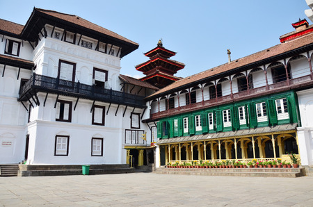 Hanuman Dhoka is a complex of structures with the Royal Palace of the Malla kings at Kathmandu Durbar Square Nepal photo
