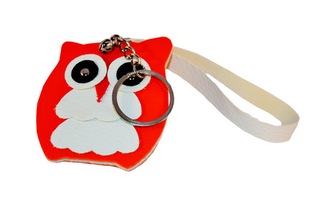 Owl Doll key ring made from leather