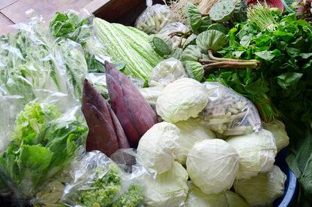 klong:  Vegetables Shop in Klong Lat Mayom Canal Floating Market at Bangkok Thailand