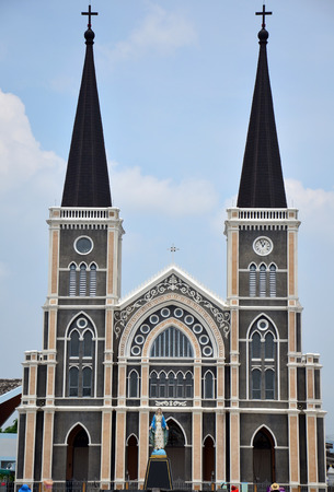 Roman Catholic Diocese or Cathedral of the Immaculate Conception most beautiful church in Chanthaburi Thailand photo