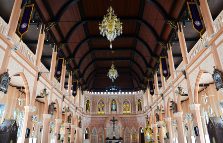 Roman Catholic Diocese or Cathedral of the Immaculate Conception most beautiful church in Chanthaburi Thailand