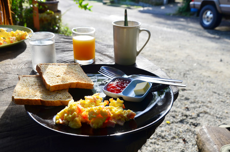 Breakfast in Morning at Resort Phang nga Thailand  photo