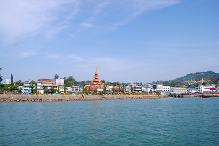 Bayintnaung Point or Victoria Point at township of Kawthaung District in the Taninthayi Division of Myanmar  Burma   写真素材