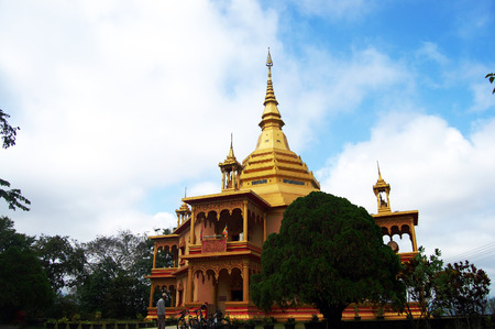 Wat Pa Phonphao in Luang Prabang City at Loas Lao People s Democratic Republic photo