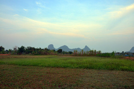 Sunrise at Mountain name Khao Oktalu in Phatthalung Thailand photo