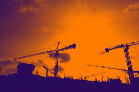 Building Business Construction Site at Bangkok Thailand photo