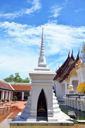 The two most important Buddhist monasteries called name Wat Phra Borommathat Chaiya Temple located in Chaiya district Surat Thani province  photo