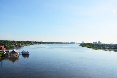 nonthaburi: Chao Phraya River at Nonthaburi Thailand
