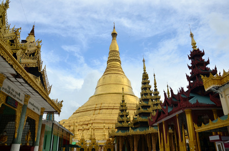 Shwedagon Pagoda or Great Dagon Pagoda located in Yangon, Burma  photo