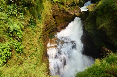 Hells Falls or Devil waterfall at Pokhara in Annapurna Valley Nepal  Imagens