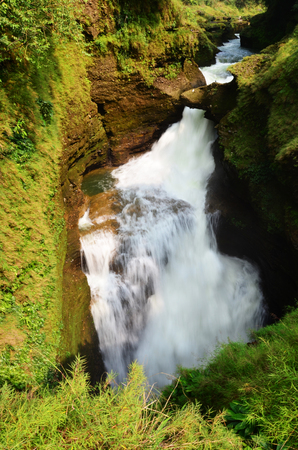 Hell s Falls or Devil waterfall at Pokhara in Annapurna Valley Nepal