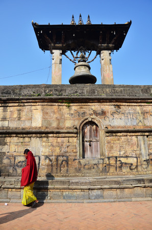 Taleju Bell in Hari Shankar Temple at south entrance of Patan Durbar Square is situated at the centre of Lalitpur Sub-Metropolitan City at Nepal  photo