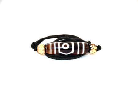 Necklace and pendant Amulet dZi Bead Nepal Style  photo