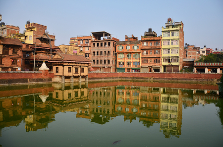 Building and town in Patan Durbar Square is situated at the centre of Lalitpur Sub-Metropolitan City at Nepal. photo