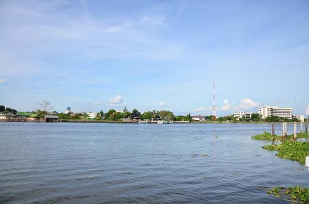 chao: Chao Phraya River at Nonthaburi Thailand