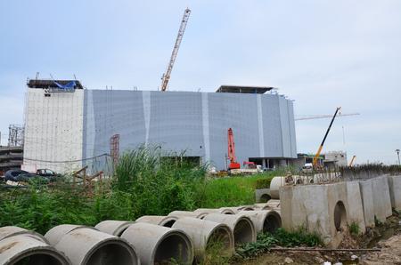 Building Construction Site at Bangkok Thailand photo