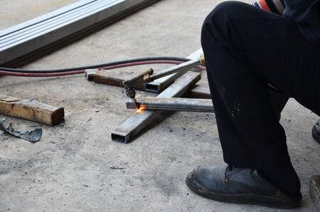 Gas Welding Steel photo