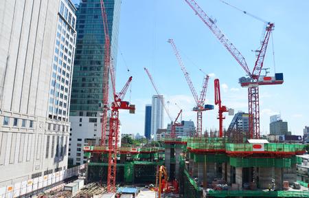 Building Business Construction Site at Bangkok Thailand.