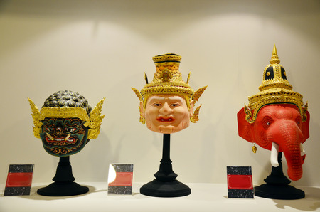thailand culture: Khon Head or Actor is mask of kind of Thai drama in Thailand culture show