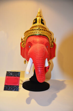 Khon Head Ganesha or Ganesh or Actor is mask of kind of Thai drama in Thailand culture show