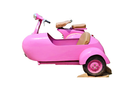 sidecar: Classic Pink Sidecar Stock Photo