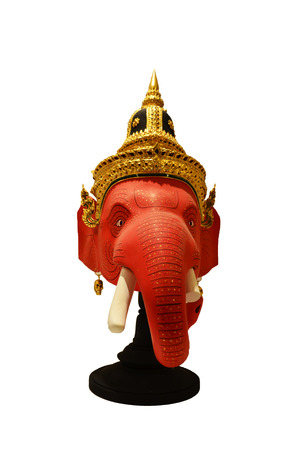 Khon Head Ganesha or Ganesh or Actor is mask of kind of Thai drama in Thailand culture show photo