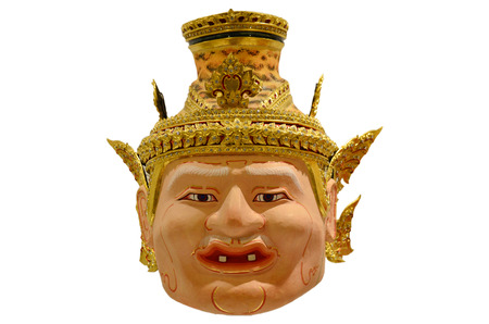 thailand culture: Khon Head Hermit or Actor is mask of kind of Thai drama in Thailand culture show