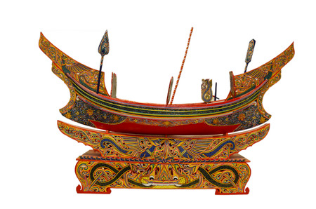 Boat figure Thai Style name is Koleh or Golek or Kolek boats art of south in thailand photo